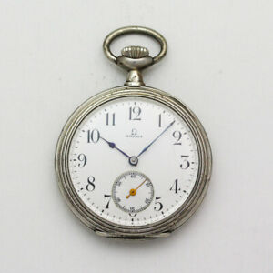 Omega Grand Prix Paris 1900 .875 Silver 48mm Open Face Pocket Watch