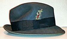 Vintage Men's Gray Wool Fedora Hat WPL 5923 size Medium USA