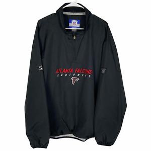 Atlanta Falcons On Field 1/2 Zip Pullover Jacket XL Black Red NFL Equipment