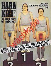Hara Kiri n°178 du 07/1976 Podium Jeux Olympiques Fausses pubs Pastis Saurin