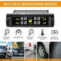 Wireless Solar Auto Reifendruckkontrollsystem TPMS + 4 Externe Sensoren A1H2