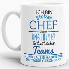"""Tasse mit Spruch """"Chef"""" - Kaffeetasse / Mug / Cup - Qualität Made in Germany"""