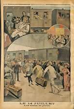 COMPAGNIE CHEMIN DE FER ORGANISE 14 JUILLET TRAIN TARIFS REDUITS DE PLAISIR 1902