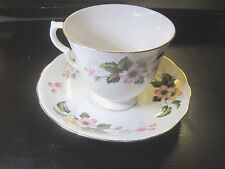 Queen Ann Tea Cup & Saucer ROSES Fine Bone China - From Numbered Set