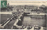 75 - cpa - PARIS - Panorama du Pont et de la place de la Concorde