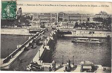 75 - cartolina - PARIGI - Panorama il ponte e di la luogo di La Concorde