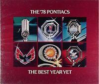 1978 Pontiac Sales Catalog 78 Firebird and Trans Am Bonnbeille Grand Prix LeMans