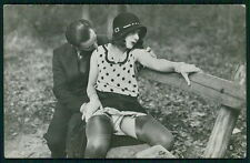 French nude Biederer kamasutra couple original c1910-1920s photo postcard gj41