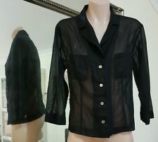 Marella blouse. Sz42/ S.Made in Italy. Beautiful fabric.Lightly sheer.Vgc