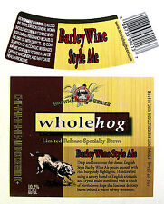 Stevens Point Brewery BARLEY WINE STYLE ALE beer label WI 12oz Limited Release