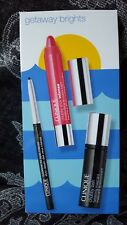 Clinique❤ GETAWAY BRIGHTS ❤3Pc Eyeliner,Mascara,Chubby Stick Lip Color❤AUTHENTIC