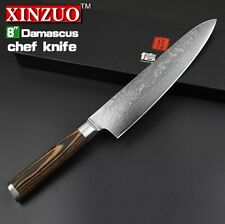 """XINZUO 8"""" chef knives high quality fashion Japanese VG10 Damascus steel kitchen"""