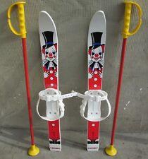 Kinderski Babyski Lernski 70cm für Kinder in Fabe Weiß Clown