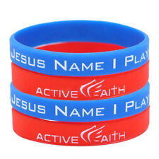In Jesus Name I play Silicone Bracelet Sport Wristband Christian Jewelry Fashion