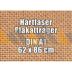 10 McPoster Profi-Hartfaser DIN A1 - 620 x 860 x 3,0 mm | gebohrt | 1000 kg/m³