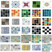10/20PCS DIY Mosaic Self Adhesive Wall Tile Sticker Bathroom Kitchen Home Decor