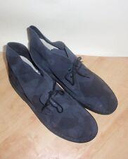 BNIB Clarks ORIGINALS mens black camouflage suede desert boots size 13