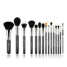Jessup 15pcs Makeup Brushes Sets kabuki Foundation Brush Tools Kits US Black