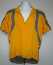 Mens Quest Bike Jersey XL yellow gray polyester half zip 3 back pockets 887c13c7c