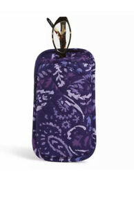 NWT Vera Bradley Double Eye Case Quilted Cotton Factory Paisley Amethyst MSRP$25