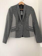 Ladies Blazer Size 10 Grey Suit Formal <JJ1201