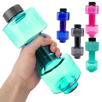 BE_ 550ml Water Bottle Sports Dumbbell Dumbell Shaped Gym Jug Workout Fitness De