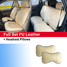 New PU Leather Full Set Auto Seat Cushion Covers Compatible to Mercury 82255 Tan