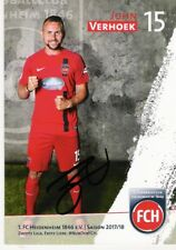 John Verhoek, 1. FC Heidenheim , Autogrammkarte Saison 2017/2018 , 17/18