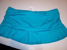 NEW KENNETH COLE REACTION turquoise blue bikini swimsuit skirt bottom Small 6