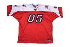 Mens Fubu 05 92 Champions League Red Sewn Embroidered Jersey Football Sz Xxxl 3X