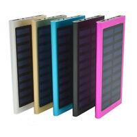 Waterproof 10000mAh Dual USB Portable Battery Charger Solar Power Bank Shell