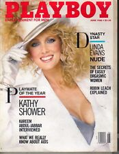KATHY SHOWER PMOY Playboy Magazine 6/86 LINDA EVANS KAREEM ABDUL-JABBAR