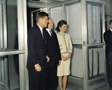 President John F. Kennedy and Jackie with Chancellor Adenauer New 8x10 Photo
