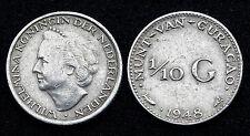 1/10 Gulden 1948 Nederlandse Curacao/ Curacao Néerlandaises. Argent/ Silver