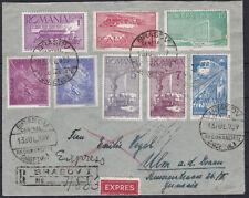 Sensationeller Reco Express Brief 1939 ECHT gelaufen Brasov / Rumänien - Ulm