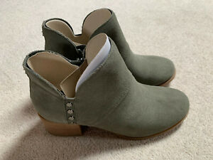 Koolaburra Sofiya ladies ankle boots   green   size 5   new