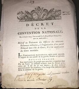 CORSE.RÉVOLUTION.TRIBUNAUX. DEUX DOCUMENTS DE 1793.