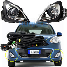For 2018 ~ 2013 Nissan Micra Bumper Fog Lamp Complete Kit w/Bubls Switch Wire