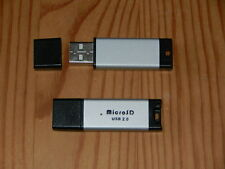 TWO USB2.0 MICROSD FLASH MEMORY CARD READERS - NEW