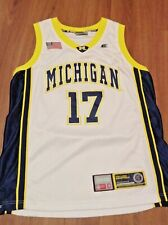 Michigan Wolverines College Basketball Jersey Med #17
