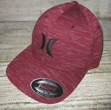 MENS HURLEY BURGUNDY MAROON  MARBLE HAT FLEX FIT FITTED CAP SIZE S/M