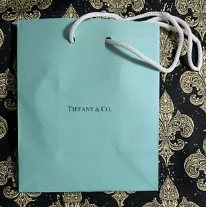 """Tiffany & Company, Small Paper Jewelry Gift Bag 5""""x3"""" by 6"""" tall Holiday Shower"""