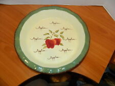 Apple Orchard Collection Home Interiors 11'' Pie Plate Pan Holder Earthenware