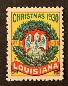 U4/73 US Stamps Cinderella Louisiana Christmas Seals 1930 Mint NHOG Nice Coll