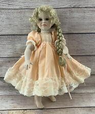 "Paradise Galleries Patricia Rose 1999 Porcelain Doll 13"" Blonde Peach Dress"