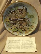 Franklin Porcelain Woodcock Gamebirds Plate 1979 Haviland Limoges