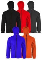 CE Armoured Motorcycle Motorbike Hoodie Protective Fleece Zip up Jacket S - 5XL