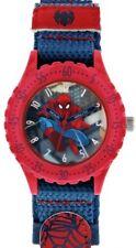 Marvel Spider-Man Time Teacher Blue & Red Rip Tape Strap Watch SPD3495 Kids Boys