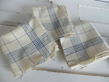 """Unused 3 (Three) Finest Linen Towels Blue Stripes 23 """" by 22 """" Us-$ 32.90"""