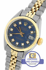 Ladies Rolex DateJust 26mm 6917 Two-Tone Stainless Diamond Jubilee Watch 69173
